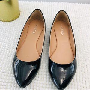 cd965f5ce7 Aldo · Also flats pointy toe black leather patent ...